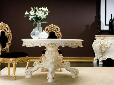 baroque furniture table chair