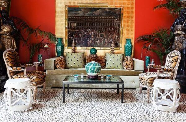 Maximalist decor animal prints