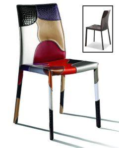 patchwork chair in colors