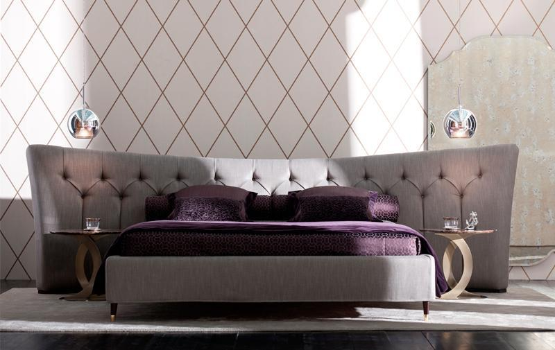 Opera butterfly bed with wrap-around headboard