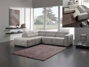 Michelangelo Designs, modern italian leather sectional